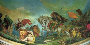 attila and his hordes overrun italy and the arts 1847 Eugene Delacroix Ölgemälde