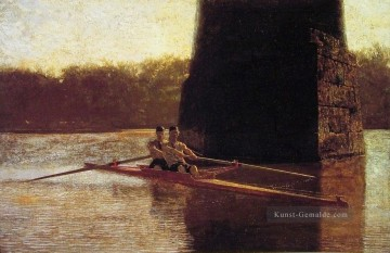Boot Ölgemälde - Die PairOared Shell Realismus Boot Thomas Eakins