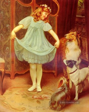 The New Dress idyllische Kinder Arthur John Elsley