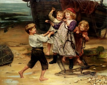 The Days Catch idyllische Kinder Arthur John Elsley
