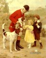 The Huntsmans Pet idyllische Kinder Arthur John Elsley