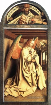 renaissance Ölbilder verkaufen - The Ghent Altarpiece Prophet Zacharias Angel of the Annunciation Renaissance Jan van Eyck