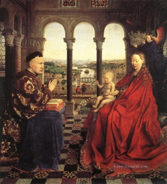 renaissance Ölbilder verkaufen - The Virgin of Chancellor Rolin Renaissance Jan van Eyck