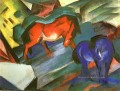 Red and Blue pferde Franz Marc