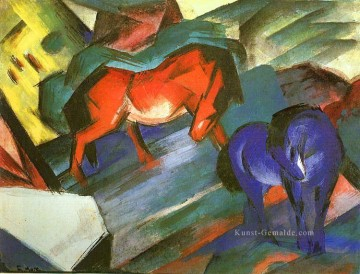 Franz Marc Werke - Red and Blue pferde Franz Marc