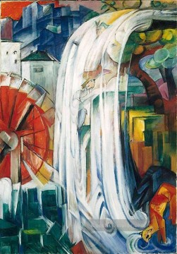 Franz Marc Werke - The Bewitched Mill Franz Marc