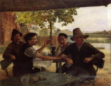 DiscussionPolitique 1889Large Realismus Emile Friant Ölgemälde