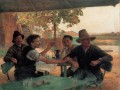 La Discussion politique Realismus Emile Friant