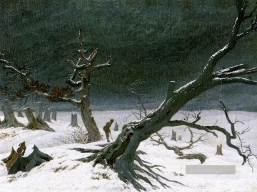 Winter Galerie - Winter Landschaft 1812 romantischen Caspar David Friedrich