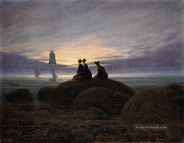 Caspar David Friedrich Werke - Moonrise By The Sea 1822 romantischen Caspar David Friedrich