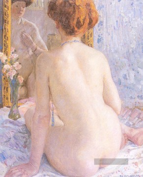 Reflections Marcelle Impressionist Nacktheit Frederick Carl Frieseke