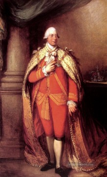 King George III Porträt Thomas Gains Ölgemälde