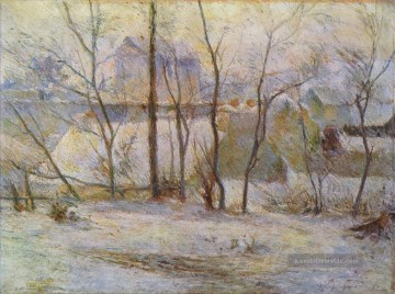 Paul Gauguin Werke - Effect of Snow Post Impressionismus Primitivismus Paul Gauguin