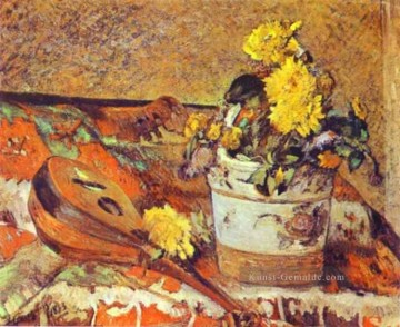 Paul Gauguin Werke - Mandolina and Blumen Post Impressionismus Primitivismus Paul Gauguin