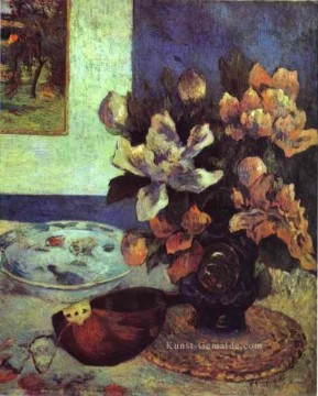 Paul Gauguin Werke - Still Life with Mandolin Post Impressionismus Blume Paul Gauguin