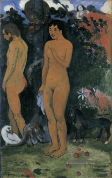 Paul Gauguin Werke - Adam and Eve Post Impressionismus Primitivismus Paul Gauguin