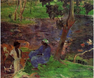 Paul Gauguin Werke - At the Pond Post Impressionismus Primitivismus Paul Gauguin