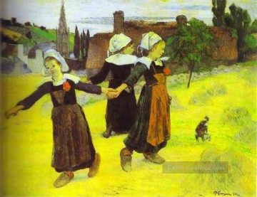 Paul Gauguin Werke - Breton Girls Dancing Pont Aven Post Impressionismus Primitivismus Paul Gauguin
