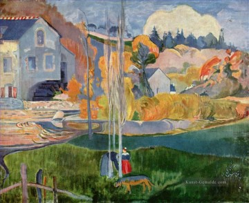 Paul Gauguin Werke - Breton Landschaft The Moulin David Post Impressionismus Primitivismus Paul Gauguin