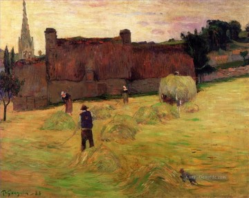 Paul Gauguin Werke - Hay Making in Brittany Post Impressionismus Primitivismus Paul Gauguin