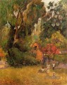 Huts under Trees Post Impressionismus Primitivismus Paul Gauguin