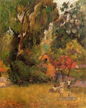 Paul Gauguin Werke - Huts under Trees Post Impressionismus Primitivismus Paul Gauguin