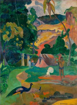 Paul Gauguin Werke - Matamoe Landschaft with Peacocks Post Impressionismus Primitivismus Paul Gauguin