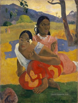 Paul Gauguin Werke - Nafea Faa ipoipo When Will You Marry Post Impressionismus Primitivismus Paul Gauguin