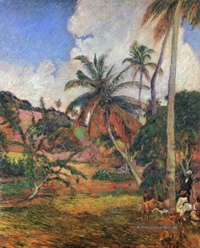 Paul Gauguin Werke - Palm Trees on Martinique Post Impressionismus Primitivismus Paul Gauguin