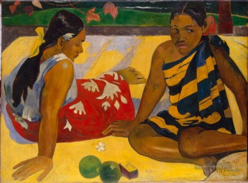Paul Gauguin Werke - Parau Api What s New Post Impressionismus Primitivismus Paul Gauguin