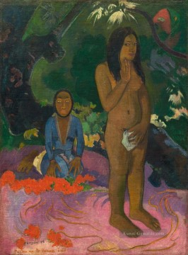 Paul Gauguin Werke - Parau na te varua ino Words of the devil Post Impressionismus Primitivismus Paul Gauguin