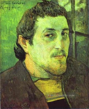 Paul Gauguin Werke - Self Porträt c Post Impressionismus Primitivismus Paul Gauguin