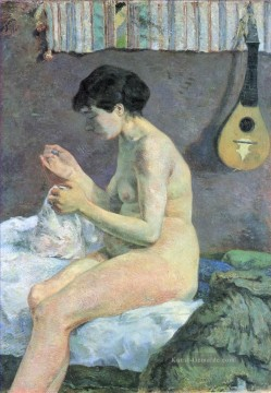 Paul Gauguin Werke - Study of a Nude Suzanne Sewing Post Impressionismus Primitivismus Paul Gauguin