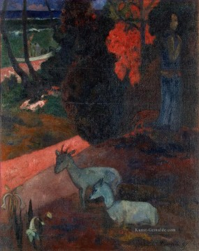 Paul Gauguin Werke - Tarari maruru Landschaft with Two Goats Post Impressionismus Primitivismus Paul Gauguin