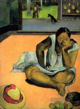 Paul Gauguin Werke - Te Faaturuma Brooding Woman Post Impressionismus Primitivismus Paul Gauguin
