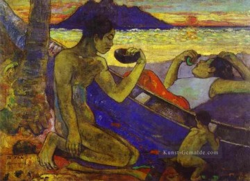 Paul Gauguin Werke - Te Vaa The Canoe Post Impressionismus Primitivismus Paul Gauguin