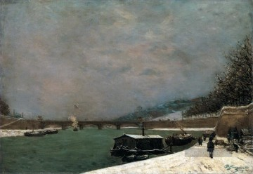 Paul Gauguin Werke - The Seine at the Pont d Iena Snowy Weather Post Impressionismus Primitivismus Paul Gauguin