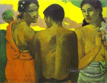 Paul Gauguin Werke - Three Tahitians Post Impressionismus Primitivismus Paul Gauguin