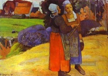 Paul Gauguin Werke - Two Breton Women on the Road Post Impressionismus Primitivismus Paul Gauguin