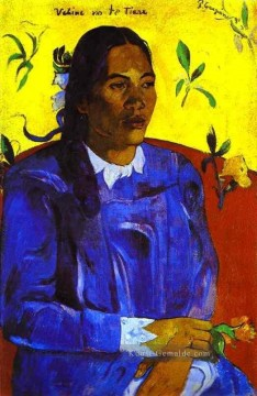 Paul Gauguin Werke - Vahine no te tiare Woman with a Flower Post Impressionismus Primitivismus Paul Gauguin