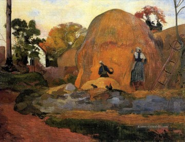 Paul Gauguin Werke - Yellow Hay Ricks Fair Harvest Post Impressionismus Primitivismus Paul Gauguin