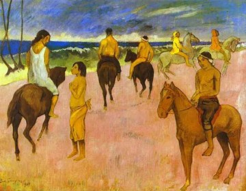 Paul Gauguin Werke - Pferdmen on the Strand Post Impressionismus Primitivismus Paul Gauguin