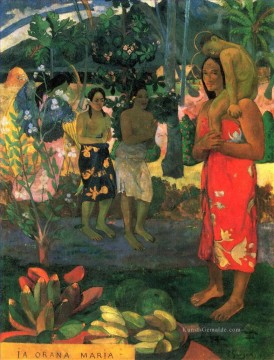 Paul Gauguin Werke - Ia Orana Maria Hail Mary Post Impressionismus Primitivismus Paul Gauguin