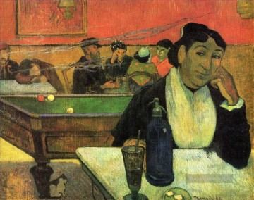 Paul Gauguin Werke - Night Cafe at Arles Post Impressionismus Primitivismus Paul Gauguin