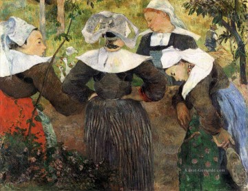 Paul Gauguin Werke - The Four Breton Girls c Post Impressionismus Primitivismus Paul Gauguin