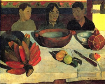 Paul Gauguin Werke - The Meal The Bananas Post Impressionismus Primitivismus Paul Gauguin