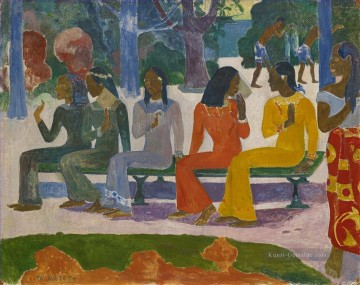 Paul Gauguin Werke - Ta Matete We Shall Not Go to Market Today Post Impressionismus Primitivismus Paul Gauguin