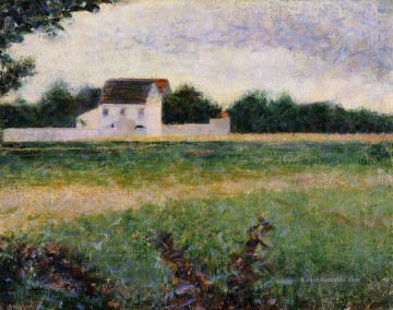 Georges Seurat Werke - Landschaft in der ile de france 1882