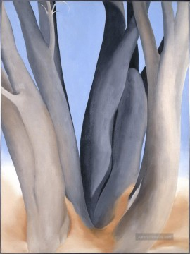 American Maler - Dark Tree Trunks Georgia Okeeffe American modernism Precisionism