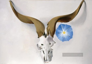American Maler - Ram Head Blue Morning Glory Georgia Okeeffe American modernism Precisionism
